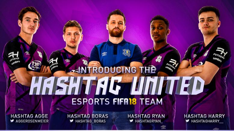 Hashtag United FIFA18 Team